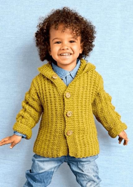 Подборка детских жакетов для мальчиков спицами. Жакеты детские спицами, схемы и описание.