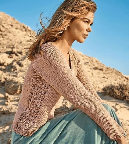 Подборка красивых, ажурных, женских пуловеров. Пуловеры спицами, схемы и описание.