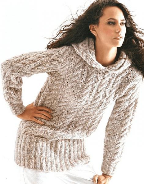 Подборка женских пуловеров и джемперов с капюшоном. Пуловеры и джемперы спицами. Вязание спицами.