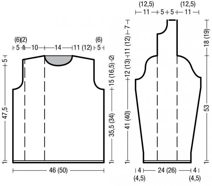 Стильный джемпер с полосами ажурного узора. Джемпер спицами, схемы и подробное описание.