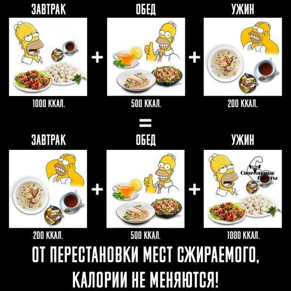 Количество и время приёмов пищи для похудения и здоровья