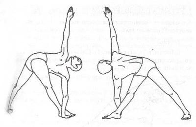 Поза треугольника - статичное упражнение, чтобы успокоиться, растянуться и облегчить жизнь при малоподвижности