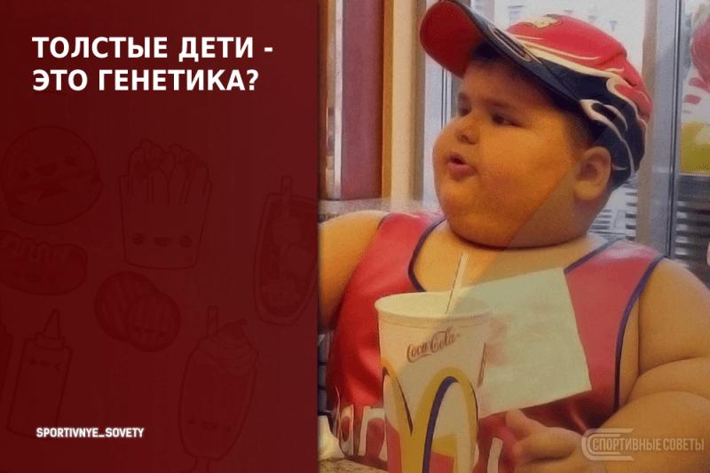 Толстые дети - это генетика?